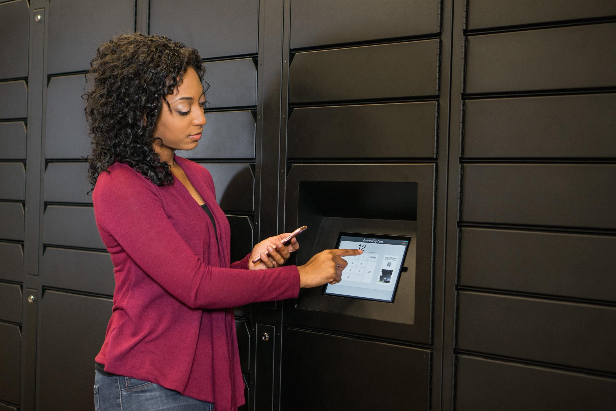 Luxer One Parcel Locker Using LCD Screen