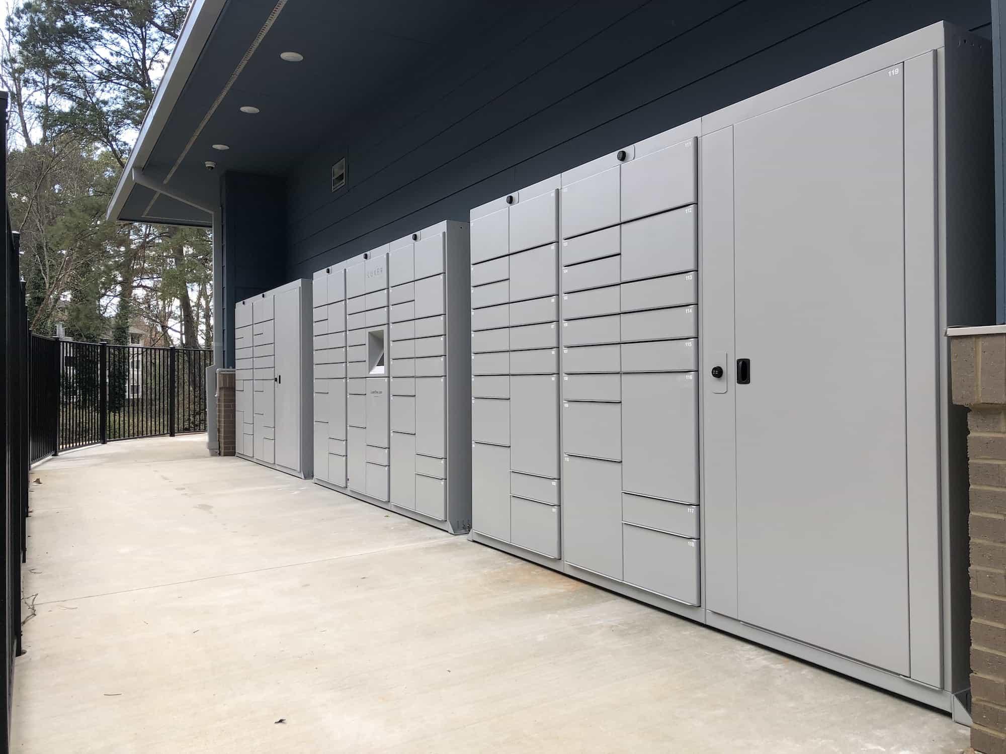 Outdoor Luxer One Parcel Lockers