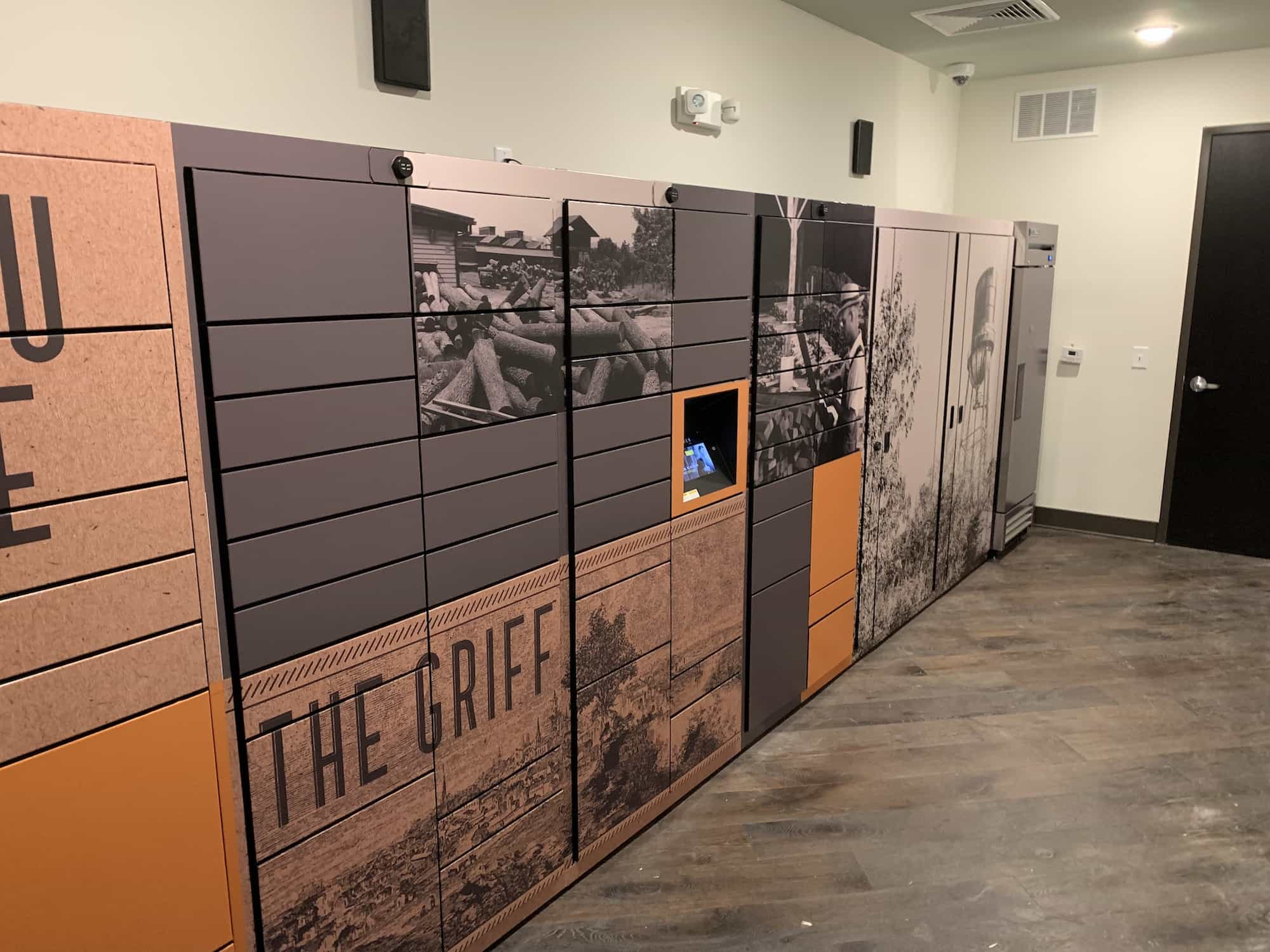 Custom Wrapped Indoor Package Lockers by Luxer One