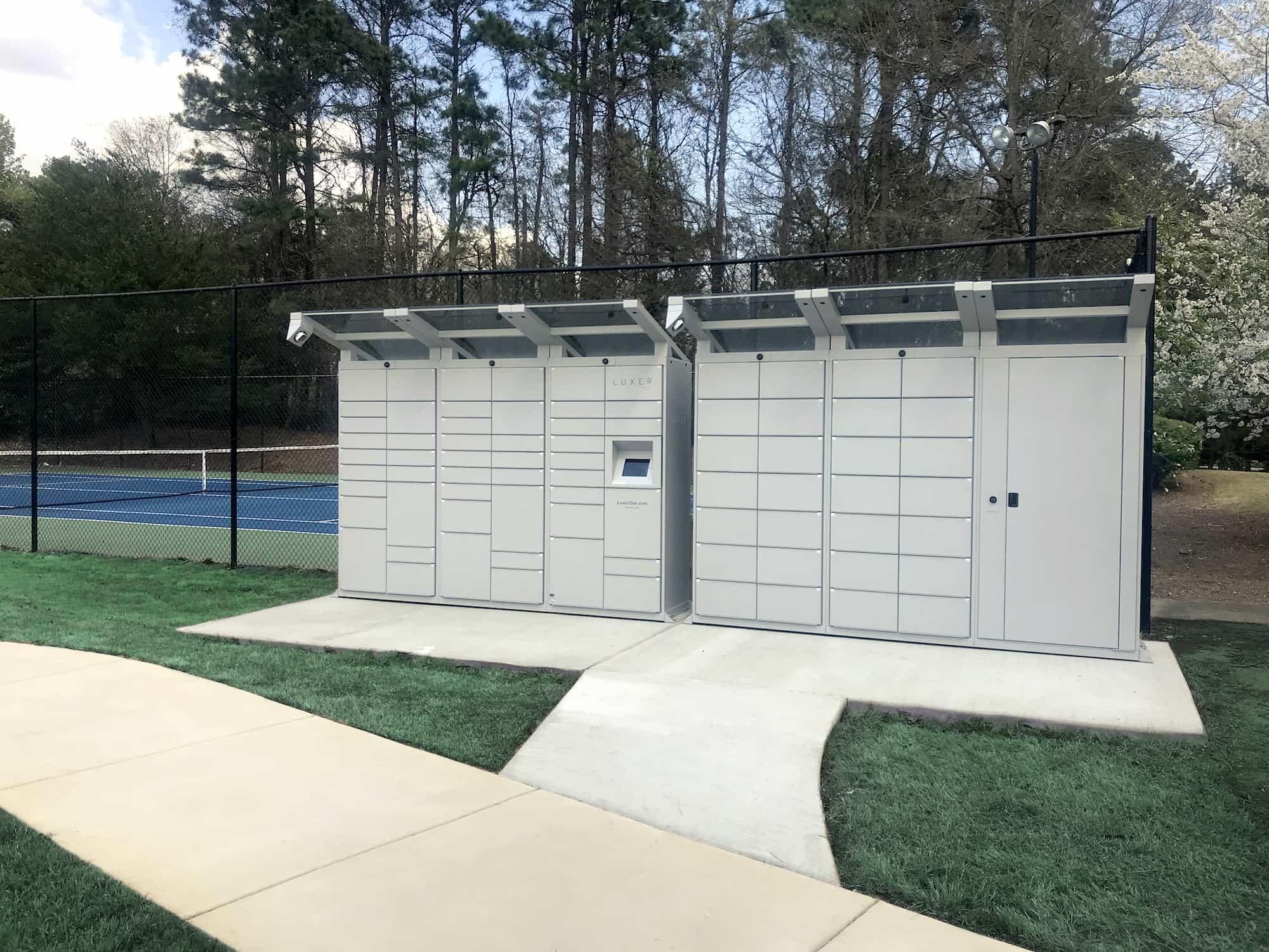 Outdoor Parcel Lockers - Westclub Park