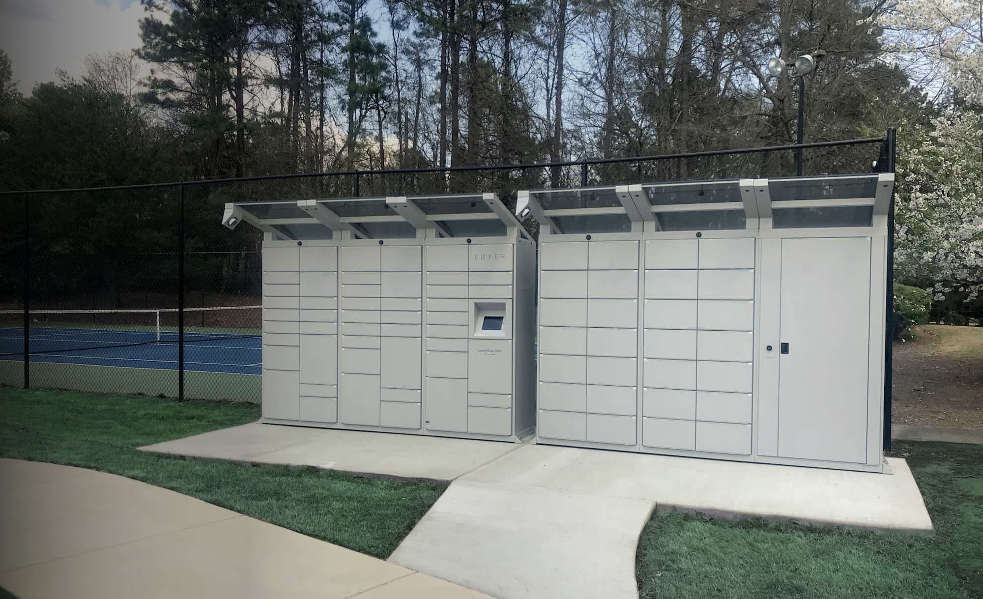 White Outdoor Parcel Lockers